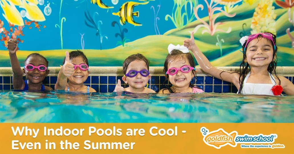 "Photo of Children Giving a ""Thumbs Up"" in the Pool"