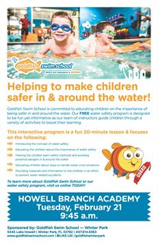Helping to make children safer in & around the water flier