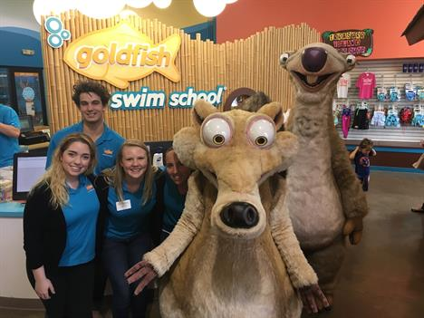 Photo of Scrat and Sid With Goldfish Swim Instructors