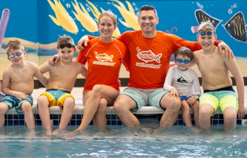 McCuiston Family in the pool