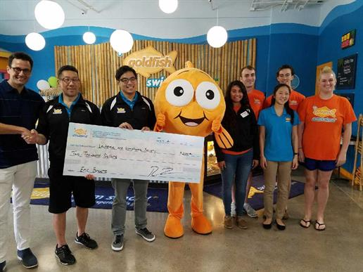 Goldfish Swim School - West Houston Team Donates Money