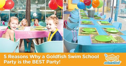 Thumbnail for Birthday Parties: 5 Reasons Why a Goldfish Swim School Party is the BEST Party!