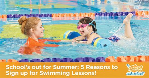 Thumbnail for School's out for Summer: 5 Reasons to Sign up for Swimming Lessons!