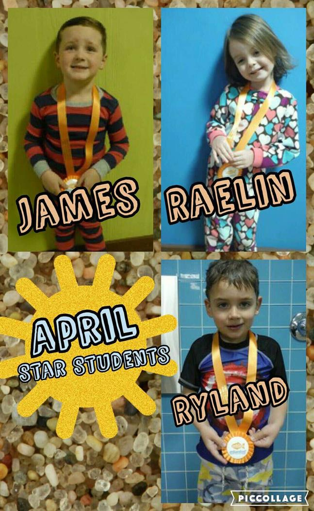 April Star Students James, Raelin and Ryland