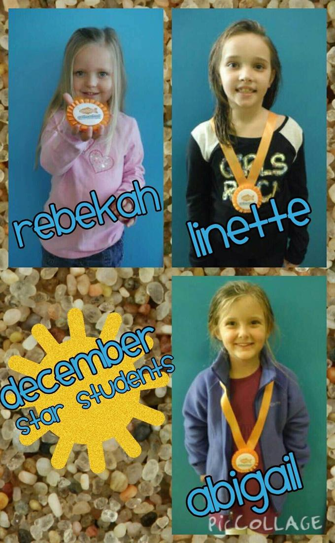 December Star Students Rebekah, Linette and Abigail
