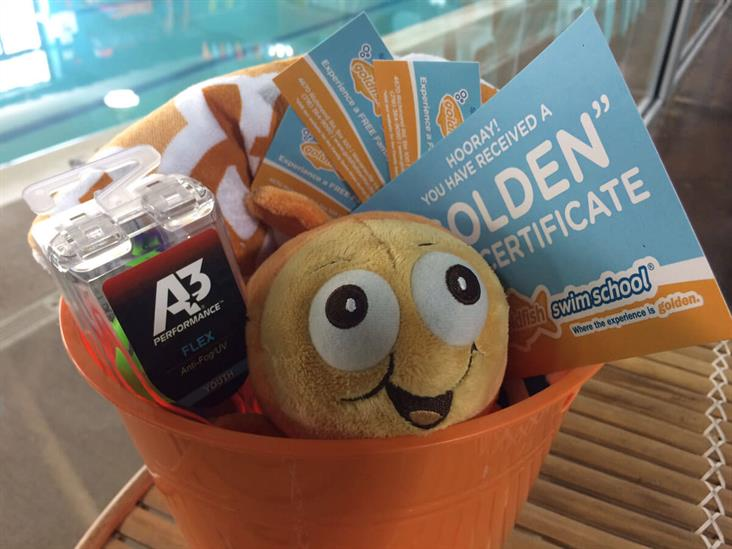 Goldfish Swim School Gift Basket