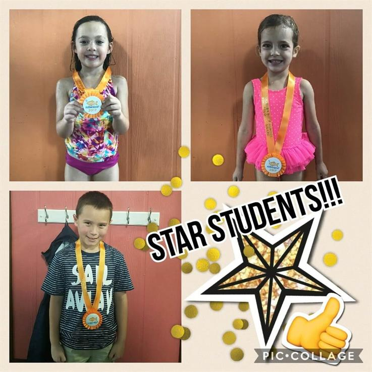 June Star Students Addison, Sophie, and Danial