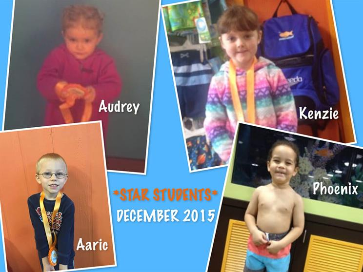 December Star Students Audrey, Kenzie, Aaric and Pheonix