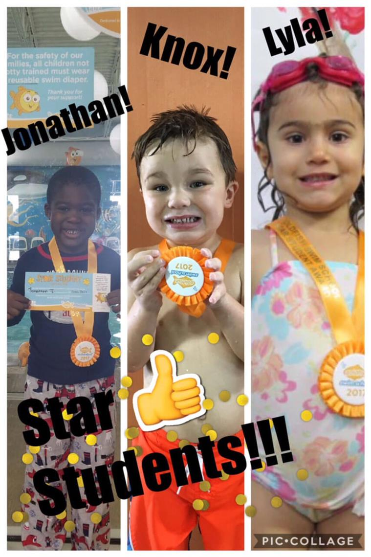 December Star Students Jonathan, Knox and Lyla