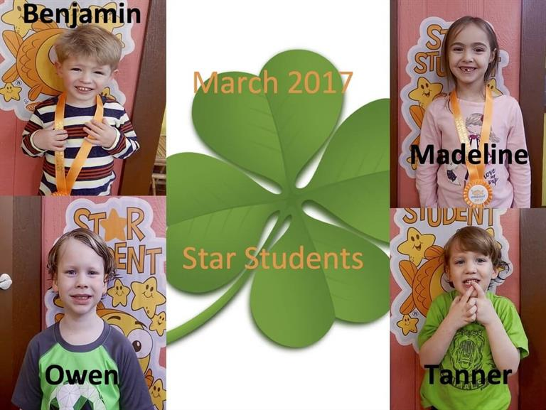 2017 March Star Students