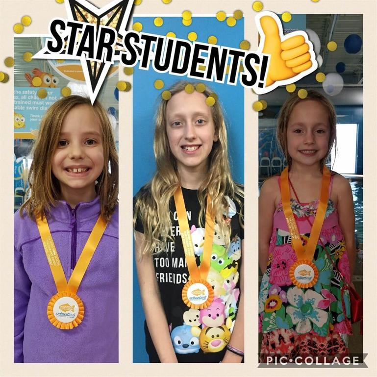 March Star Students Charlotte, Alivia, Cordelia