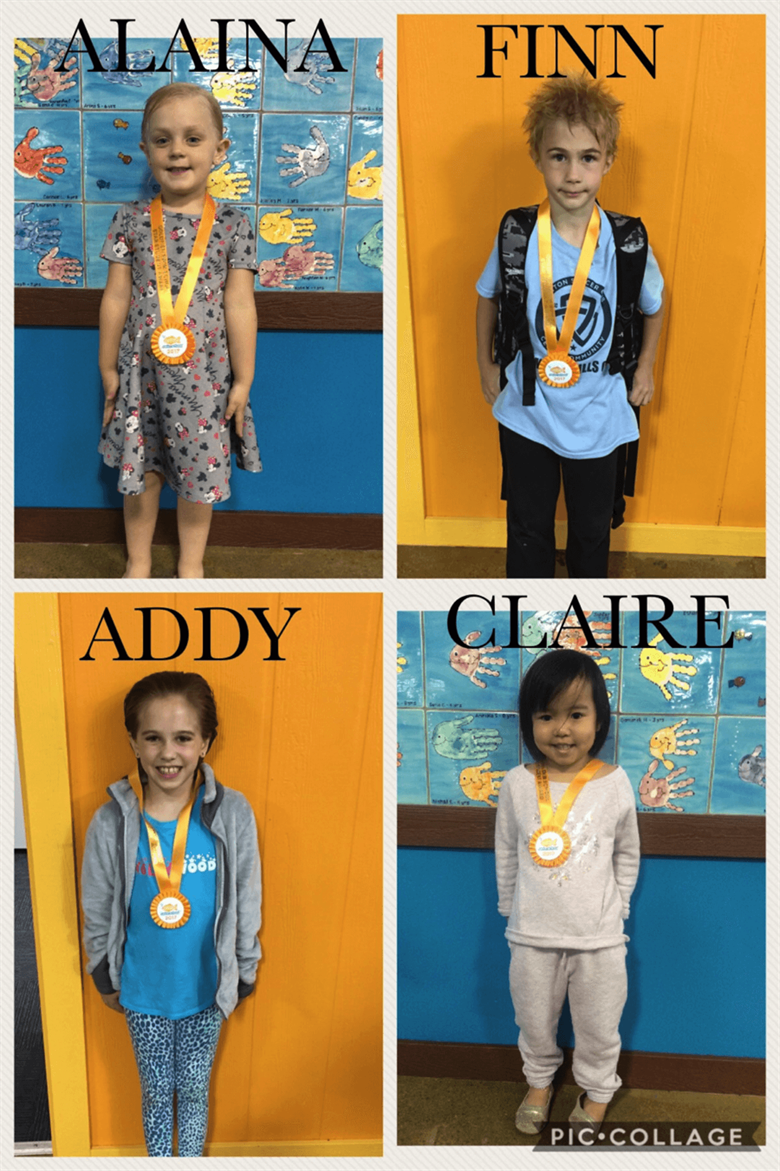 June Star Students Alaina, Finn, Addy and Claire