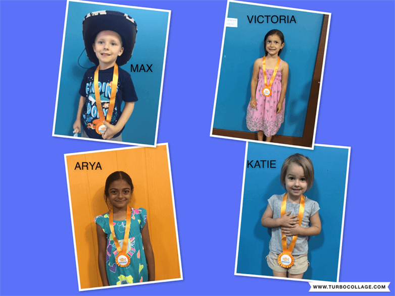 July Star Students Max, Victoria, Arya, Katie
