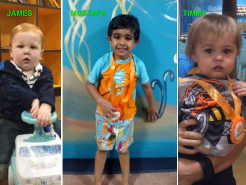 October Star Students James, Mustafa and Timmy