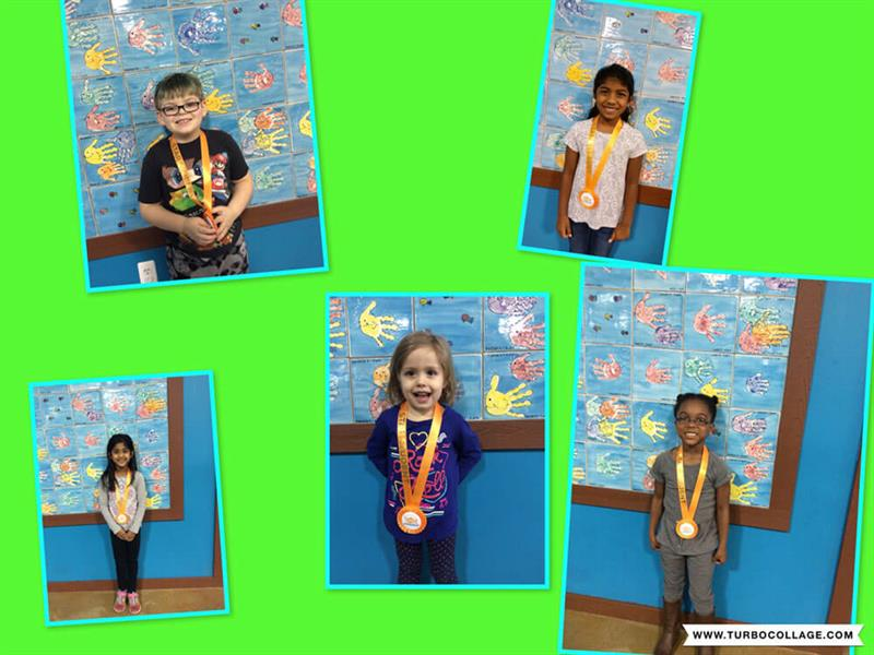 March Star Students Coen, Vindhya, Chloe, Alayna, and Tanvi