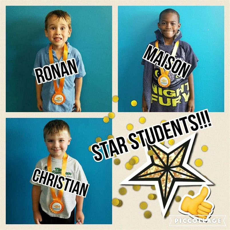 September Star Students Ronan, Maison and Christian