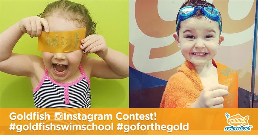 Goldfish Instagram Contest! #goldfishswimschool #goforthegold