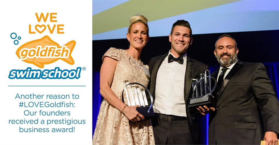 Goldfish Swim School Founders Receive Prestigious Award