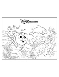 Bubbles and Friends Coloring Sheet