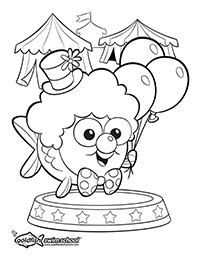 Circus coloring activity