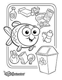 Earth day coloring activity