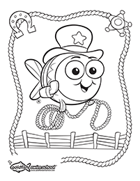 Western coloring sheet