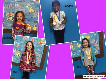 April Star Students Landon, Juniper, Mia and Mia