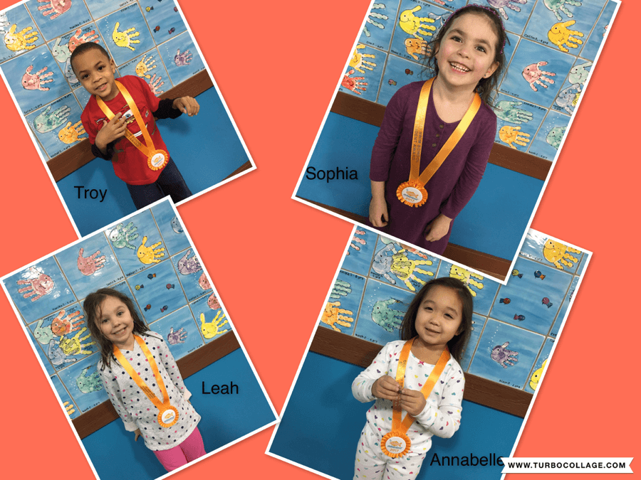 January Star Students Troy, Sophia, Leah and Annabelle