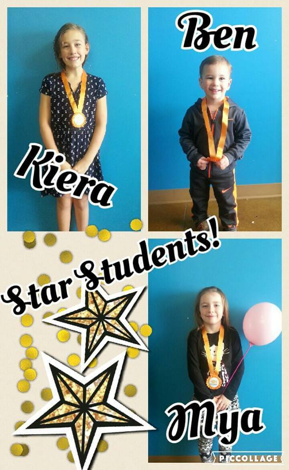 March Star Students Kiera, Ben and Mya