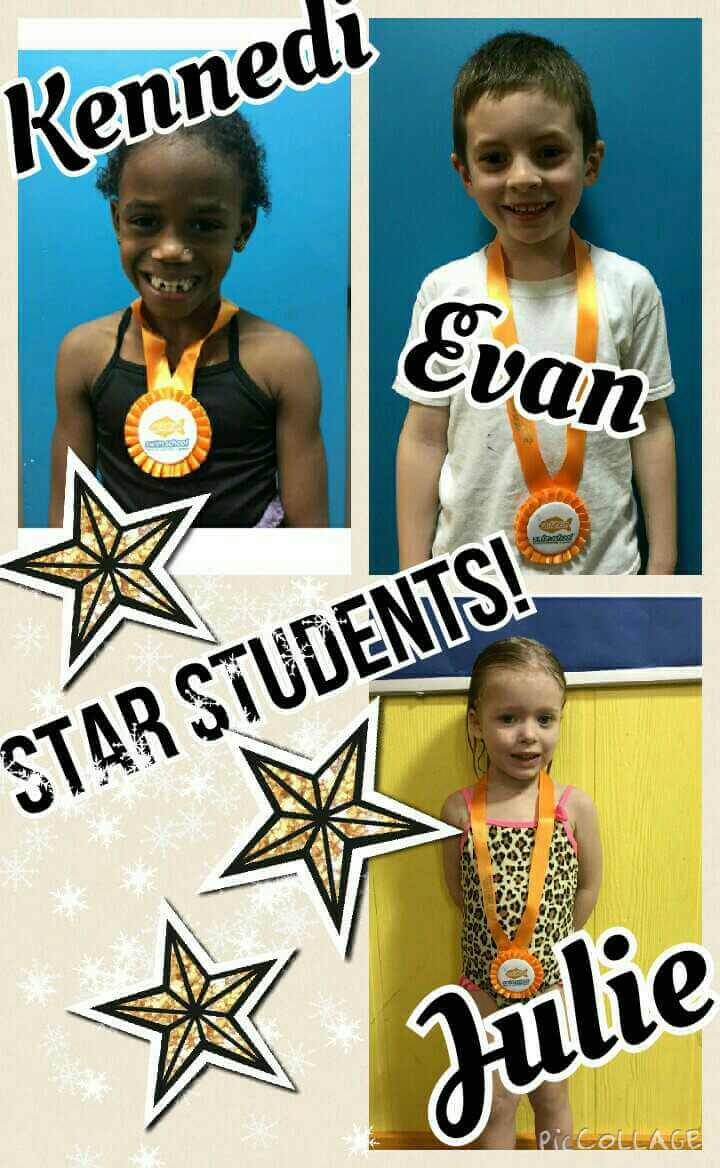 January Star Students Kennedi, Evan and Julie