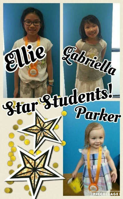 July Star Students Ellie, Gabriella and Parker