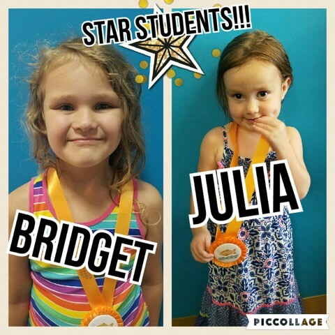 August Star Students Bridget and Julia