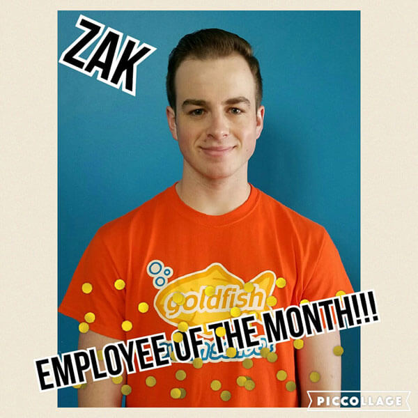 September Employee of the Month, Zak