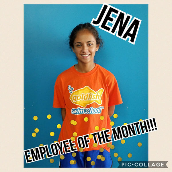 April Employee of the Month, Jena