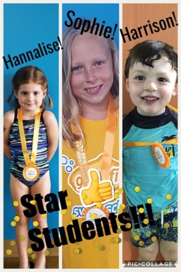 September Star Students Hannalise, Sophie, Harrison
