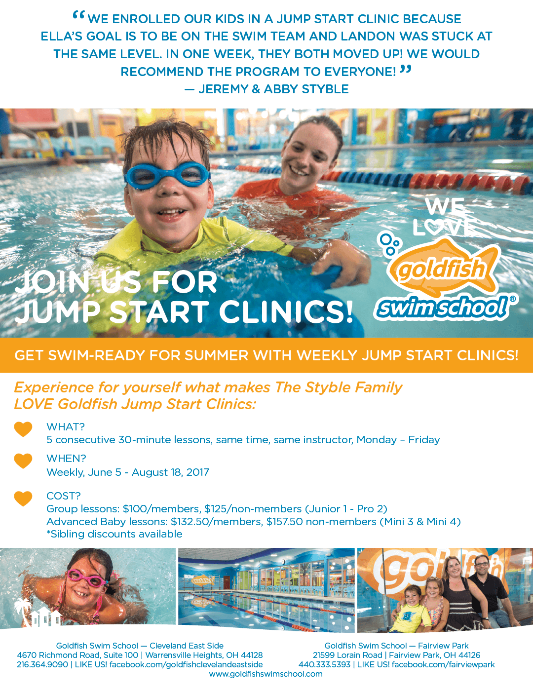 Join Us for Jump Start Clinics Flyer
