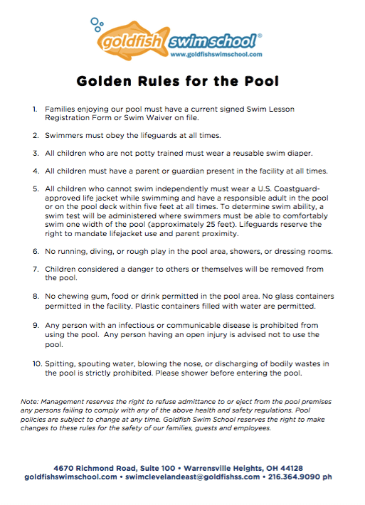 Golden Rules for the Pool