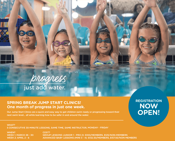 Goldfish Swim School Progress Flyer