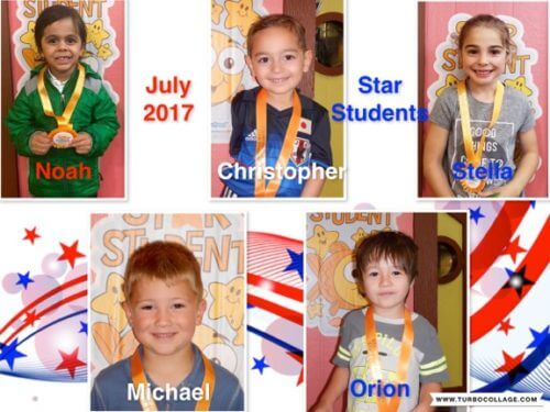 2017 July Star Students