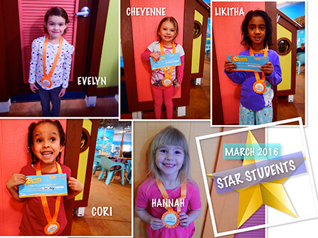 2016 March Star Students