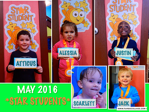 2016 May Star Students
