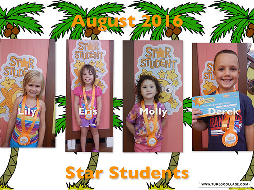 2016 August Star Students
