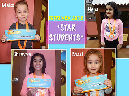 2016 February Star Students
