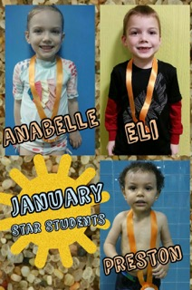 January Star Students Anabelle, Eli and Preston