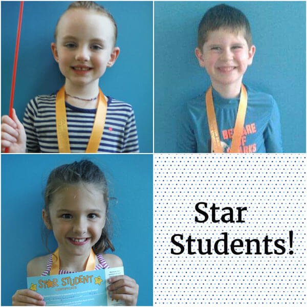 October Star Students Natalie, Jude and Ellsie