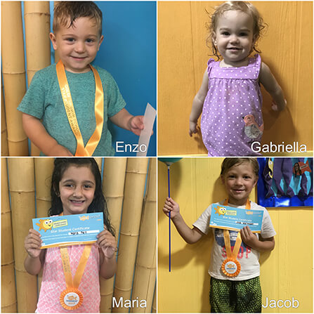 August Star Students, Enzo, Gabriella, Maria, and Jacob