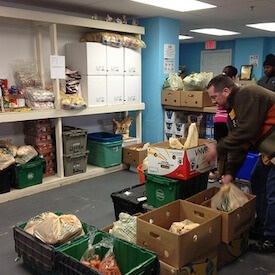 Photo of food pantry volunteers by Flickr's WEBN-TV